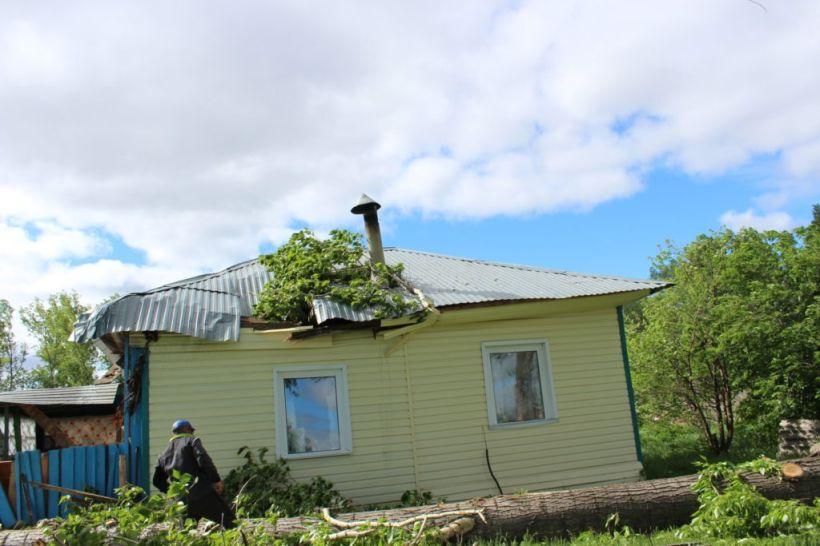 """Последствия урагана в Старой Тарабе. Фото:""""Сельский вестник"""", kytmanovonews.ru"""