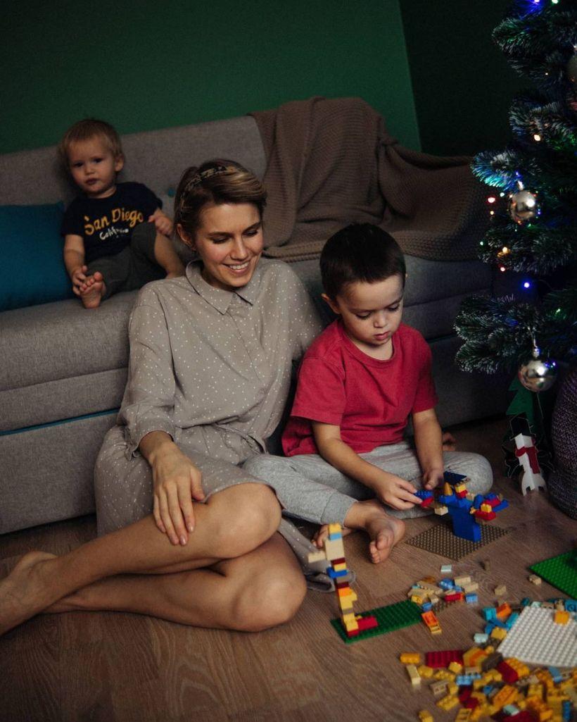 Дарья Мельникова с детьми Фото:instagram.com/melnikovadsh