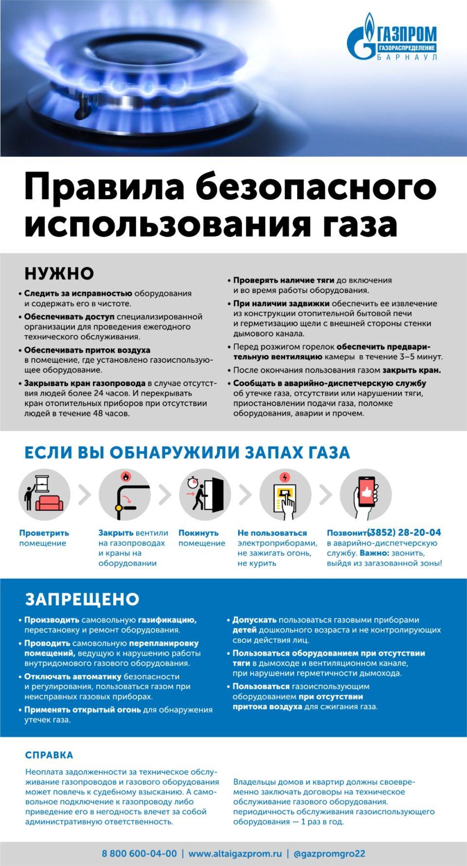 Газ в быту: как им правильно и безопасно пользоваться