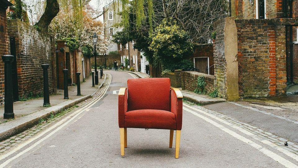 Мебель. Кресло. Улица