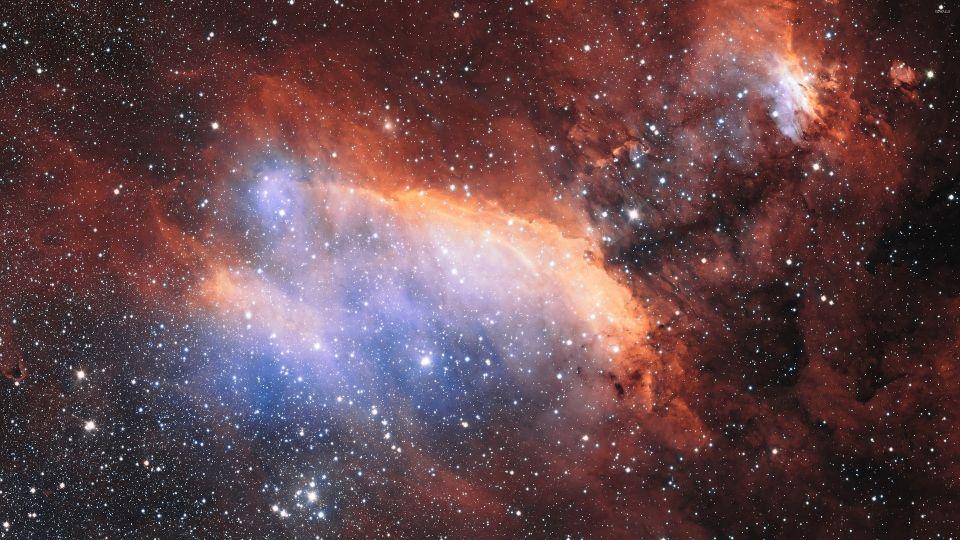 Звезды. Туманность. Космос