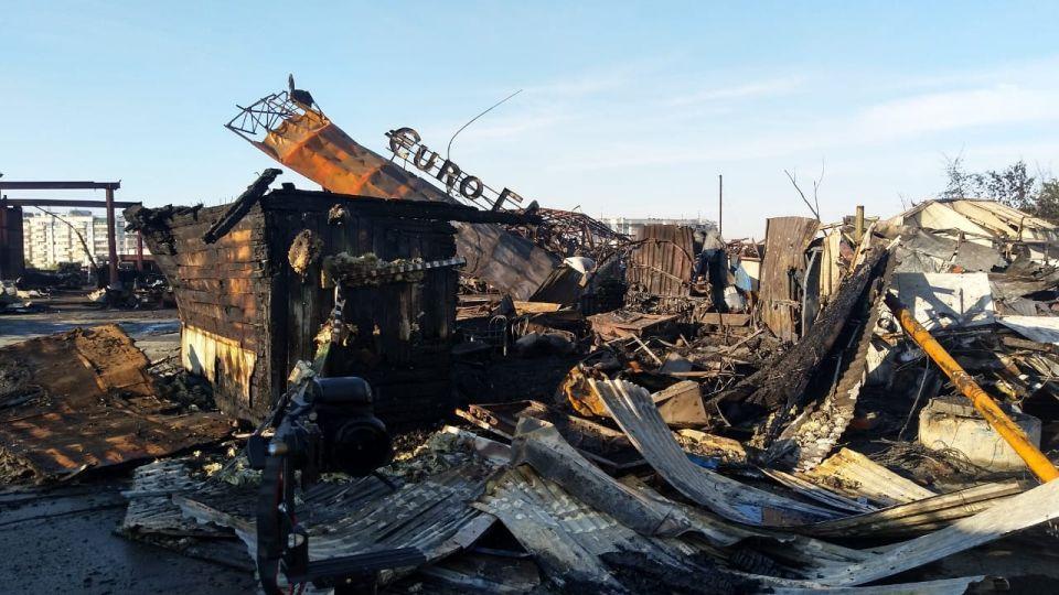Пожар на АЗС в Новосибирске