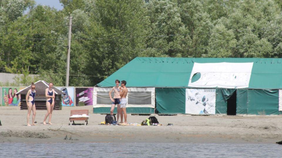 Городской пляж Барнаула сейчас