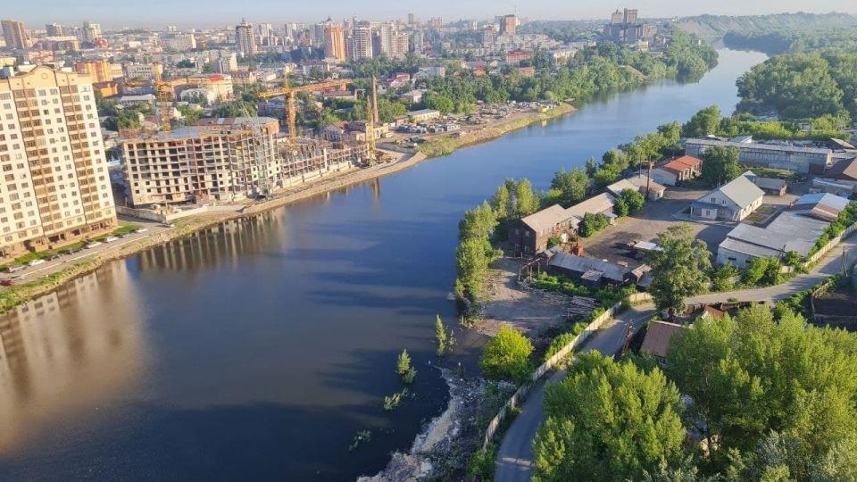 Вид на Барнаул с Оби