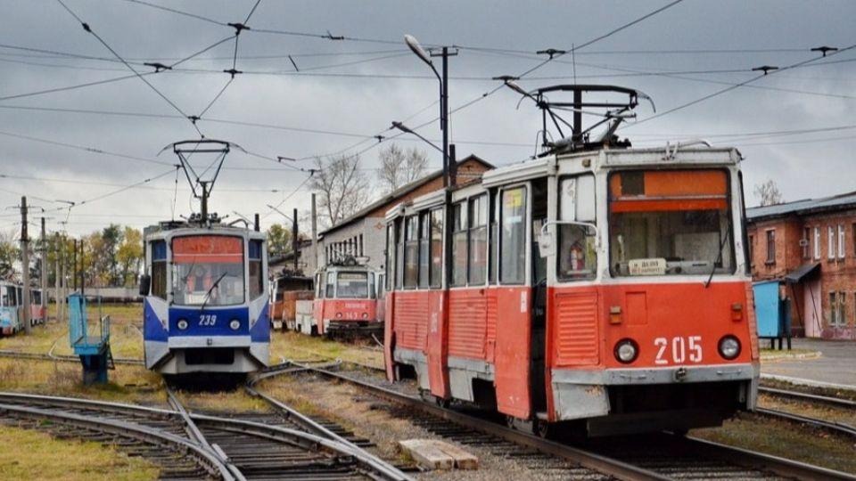 Трамвайное депо в Бийске