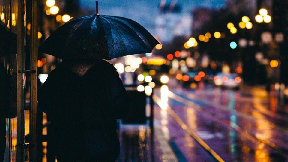 Дождь. Вечерний город